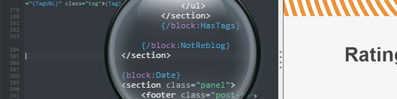 Tumblr Theme Editor - Inject Rating-Widget