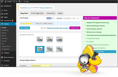 RatingWidget for WordPress Plugin Feature: Highly Customizable & User-Friendly