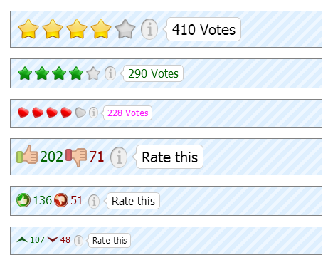 Rating-Widget ratings styles preview